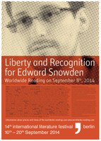 08.09.2014 - Worldwide Reading for Edward Snowden