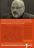 10.12.2018 Worldwide Reading for Freedom of the Press and in Memory of Jamal Khashoggi on the 70th Anniversary of the Declaration of Human Rights