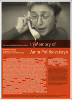 20.03.2007 - Worldwide Reading in Memory of Anna Politkovskaya