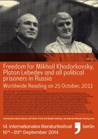 25.10.2013 - Worldwide Reading in Solidarity with Mikhail Khodorkovsky, Platon Lebedev and all Political Prisoners in Russia