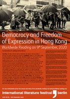 9.9.2020 Worldwide Reading for the Democracy Movement in Hongkong